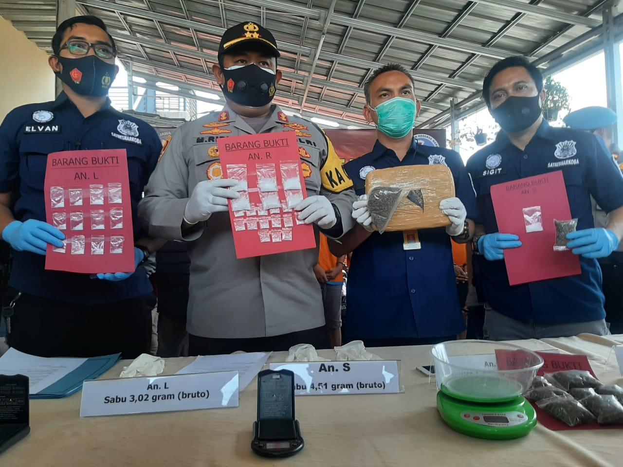 Polres Cianjur Bekuk Enam Bandar Narkoba, Satu Diantaranya Wanita