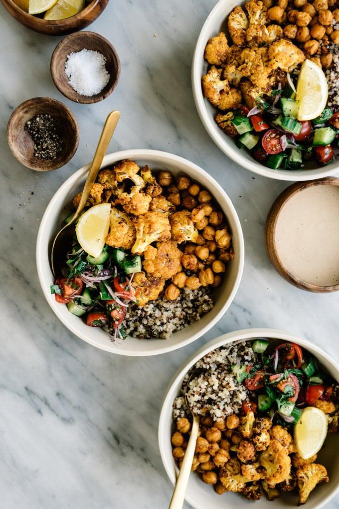 CAULIFLOWER SHAWARMA BUDDHA BOWL #cauliflower #vegan #bowl #wholw30 #recipe