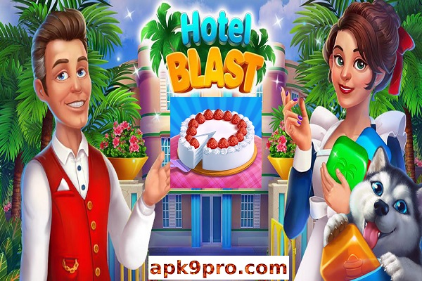 Hotel Blast v1.8.1 Apk + Mod (File size 148 MB) for android