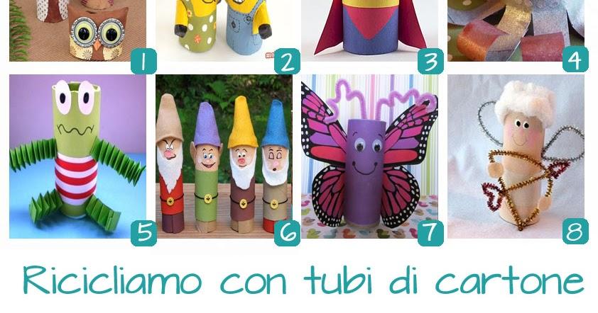 Riciclo tubi di cartone raccolta kreattivablog for Tubi cartone