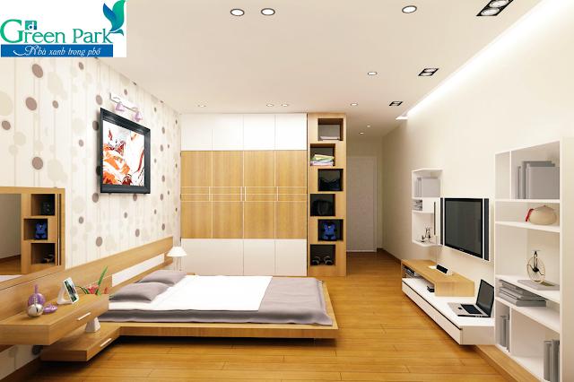 Phòng ngủ chung cư PD Green Park