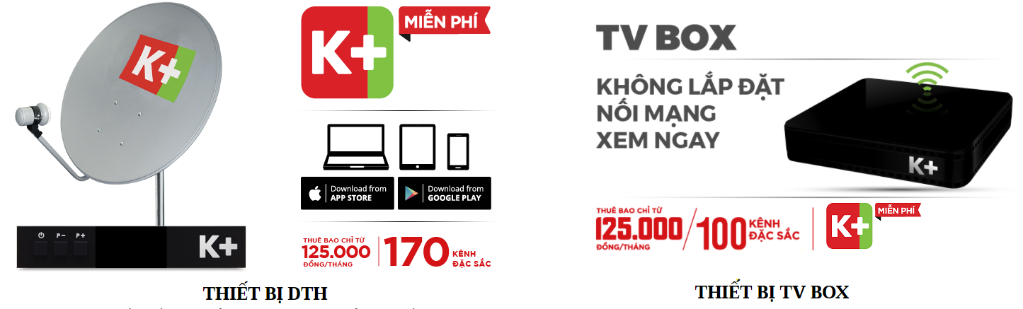 Sự khác biệt của K+ TV BOX và bộ K+ DTH