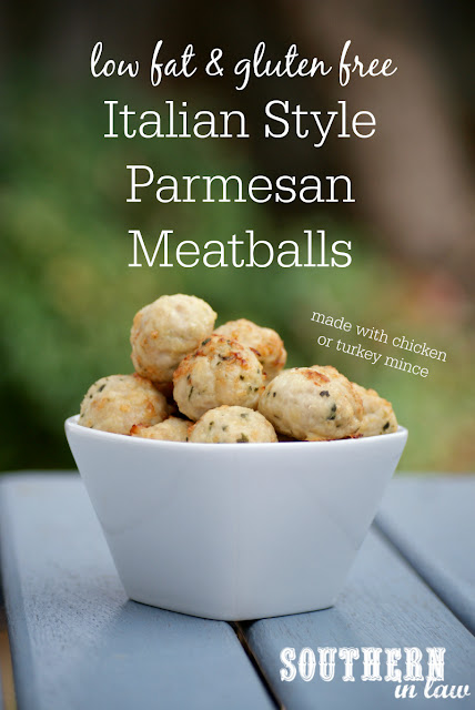 Italian Style Chicken Parmesan Meatballs Recipe - low fat, gluten free, healthy, high protein, low carb, clean eating