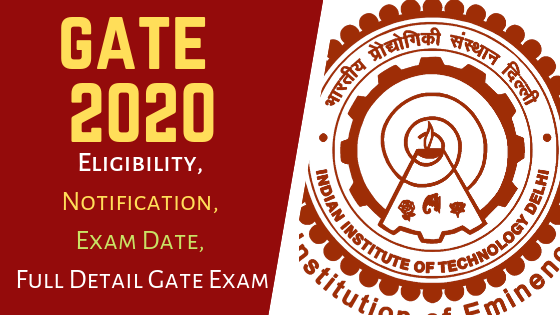 GATE exam 2020 Notification, eligibility, GATE exam pattern, benefits of GATE exam, information about Scores card GATE exam, Application Form, Exam Date, Admit Card