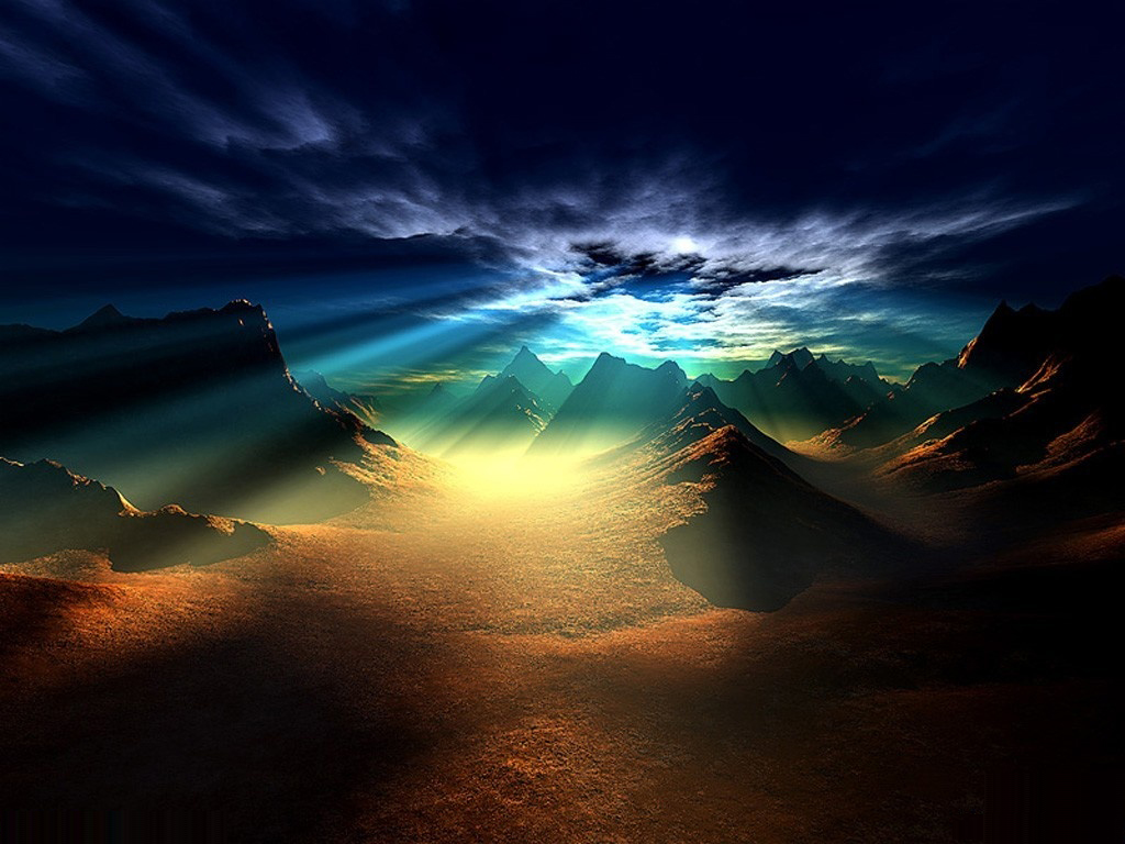 hd wallpapers for desktop: 3d cool scenery wallpapers