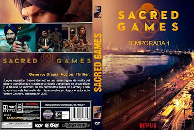CARATULA - [SERIE DE TV] JUEGOS SAGRADOS - SACRED GAMES - 2018
