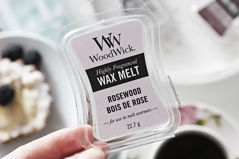 wosk zapachowy woodwick rosewood