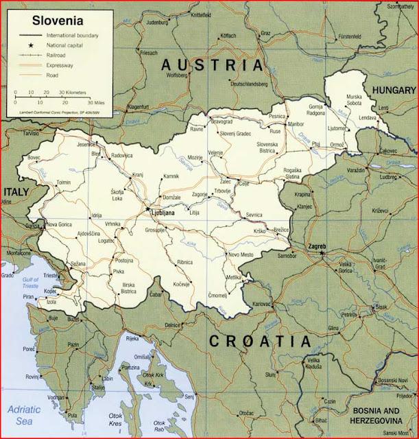 image: Slovenia Political Map