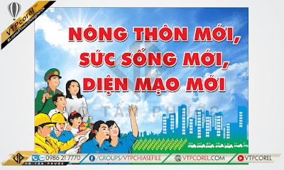Pano tuyên truyền xây dựng Nông thôn mới