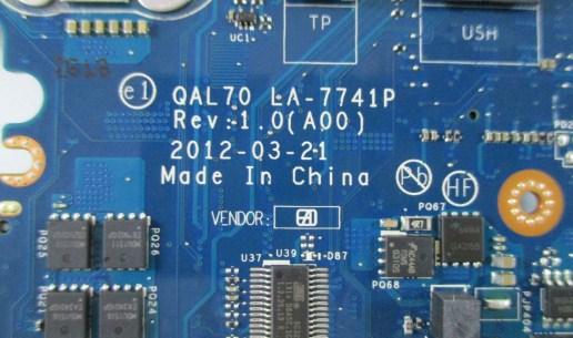 LA-7741P Rev 1.0(A00) QAL70 Dell E6430S Bios