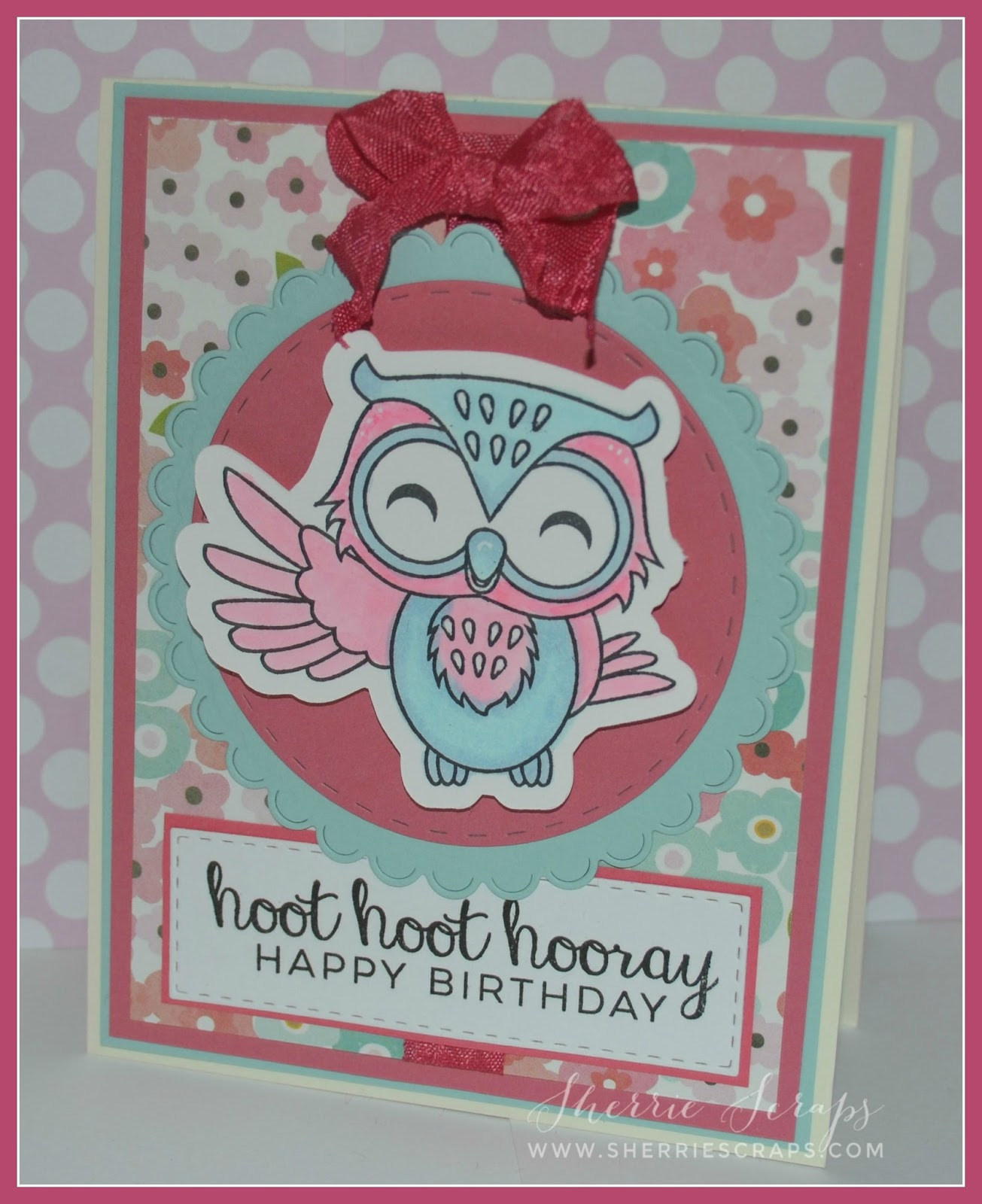 The Sentiment Is Stamped With Jaded Blossoms Youre A Hoot Stamp Set Onto Rag Using Mini Tags Die