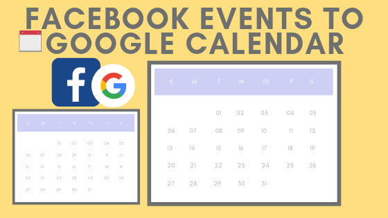 Facebook Events To Google Calendar