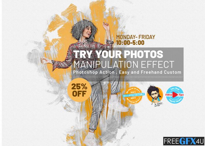 Manipulation Effect Photoshop Action