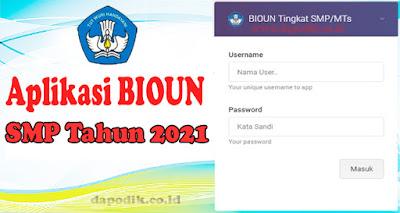 Aplikasi Bio UN SMP Offline (PDUN) Tahun 2021 Ujian Nasional UNBK Tahun 2020 / 2021