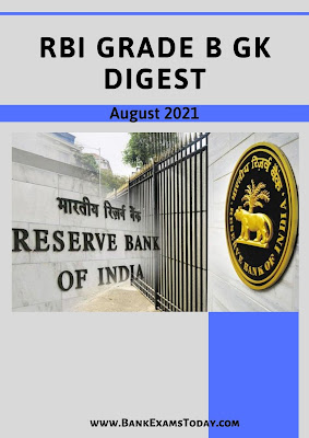 RBI Grade B GK Digest: August 2021