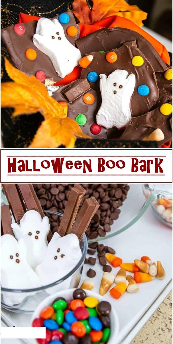 Halloween Boo Bark #halloweenrecipes