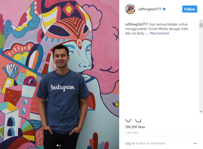 Raffi Ahmad Disuruh Berkaca, Karena Ajak Netizen Berkomentar Baik