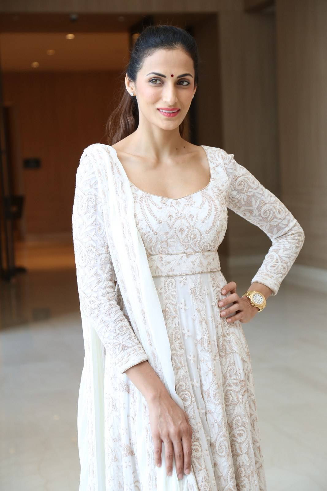 Fashion Designer Shilpa Reddy Photos In White Dress