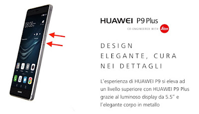 come salvare screenshot huawei p9 plus