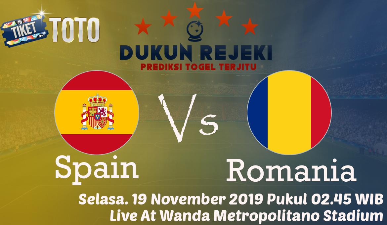 Prediksi Spain vs Romania 19 November 2019