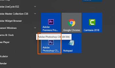 Buka aplikasi Photoshop