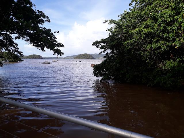 a boat ride in Martinique