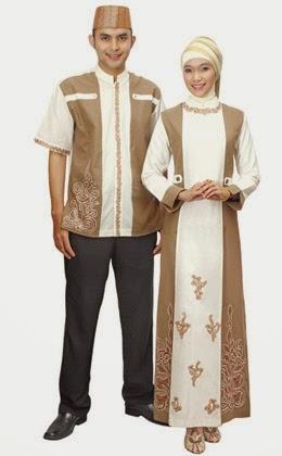 Contoh Baju Gamis Seragam Keluarga Pesta Modern Terbaru
