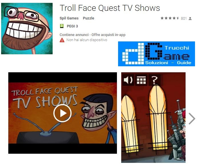 Soluzioni Troll Face Quest Tv Shows di tutti i livelli | Walkthrough guide