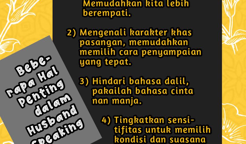 Pentingnya Husband/Wife Speaking