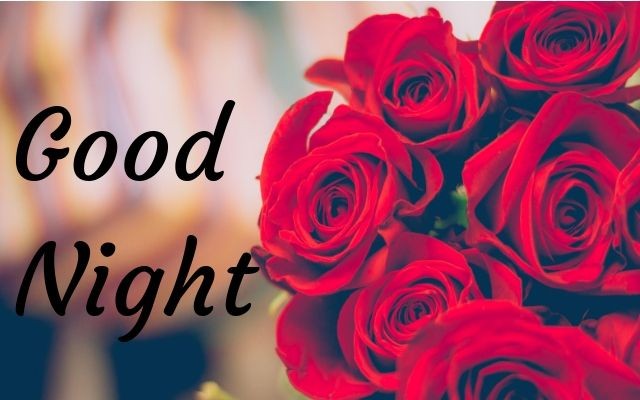good night images with rose