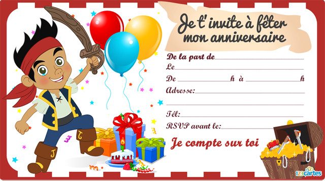 Carton Invitation Anniversaire Enfant