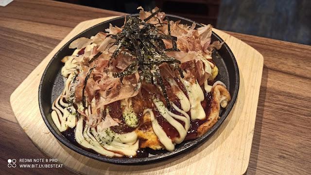 Teppan Sakaba Menu - Osaka Bacon Okonomiyaki