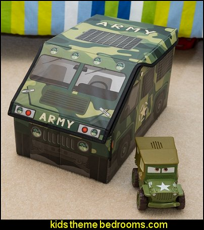 Kid's Military Army Camo Truck Storage Box and Toy Organizer