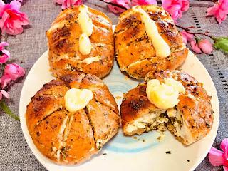 Làm bánh mì phô mai bơ tỏi công thức giảm béo ít đường 3