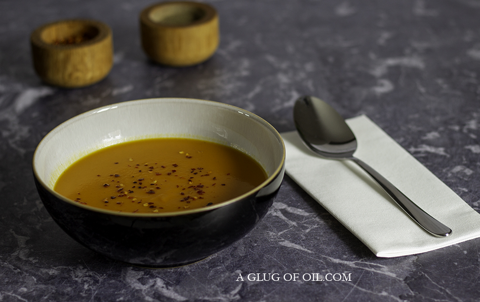 Roasted Butternut and Carrot Soup with Cumin