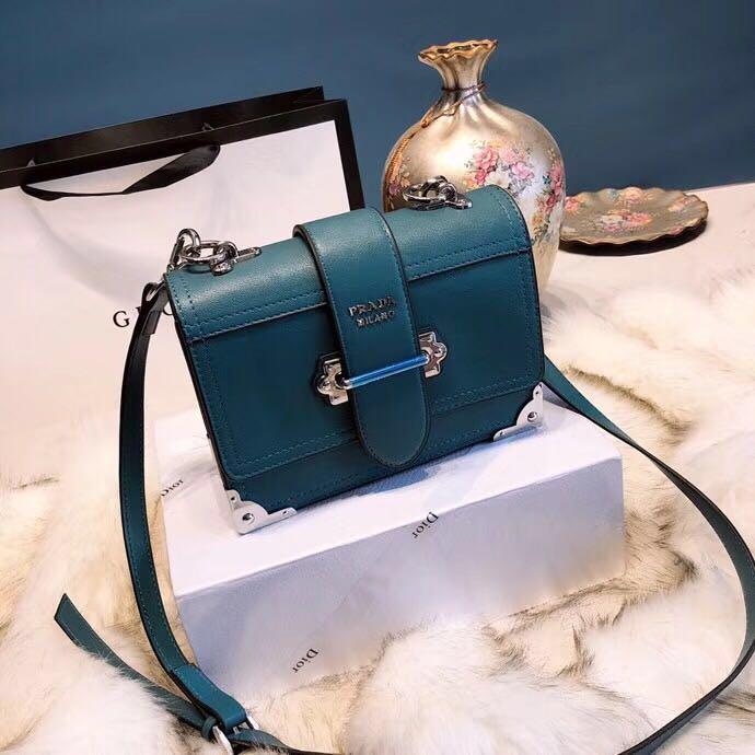 31437f1002cd PRADA Original Leather Handbag Cahier Shoulder Sling Bag 🎁 Box
