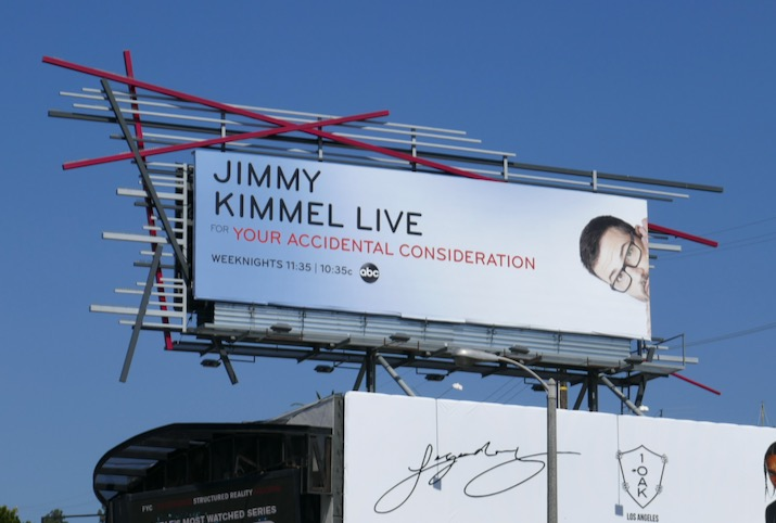 Jimmy Kimmel accidental consideration billboard