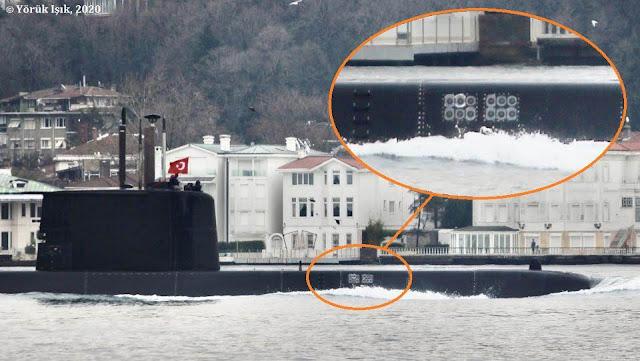 Submarino con el sistema de contramedidas de torpedos ZARGANA