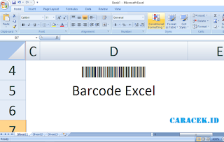 Cara Mudah Membuat Barcode di Excel Semua Versi