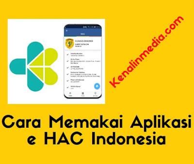 Cara Memakai Aplikasi e HAC Indonesia