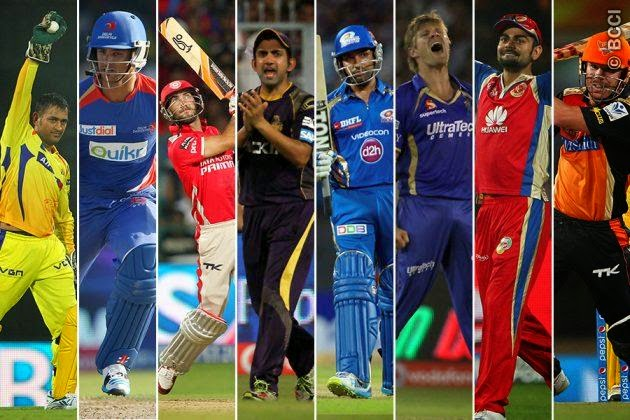 ipl squads for each team in ipl 2015
