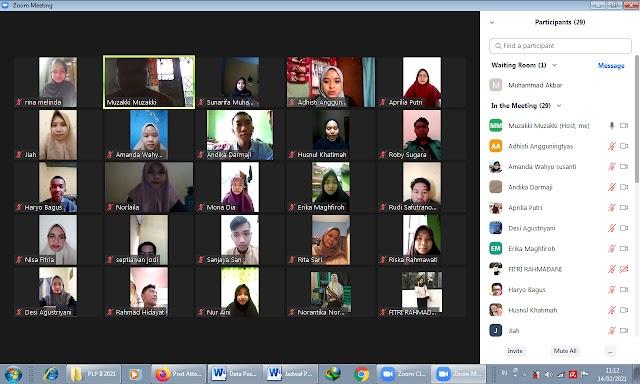 Pembekalan Praktik Latihan Profesi II Lembaga Perkantoran Prodi MPI Semester Genap Tahun Akademik 2020/2021