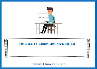 HP JOA IT Exam Online Quiz-19