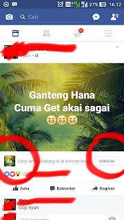 cara membuat status facebook bergambar (background) di Android