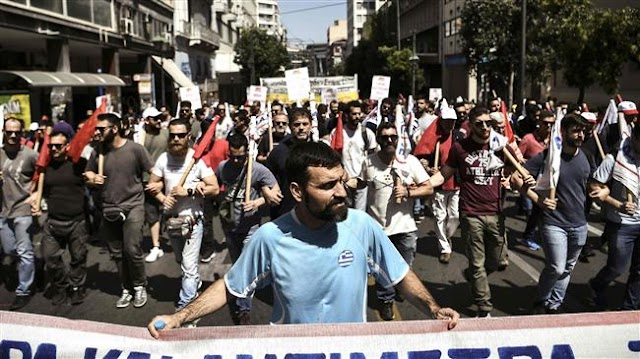 Greeks stage strike against bailout reforms