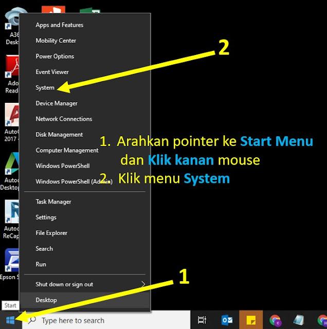 cara cek spesifikasi laptop windows 10 - langkah 3