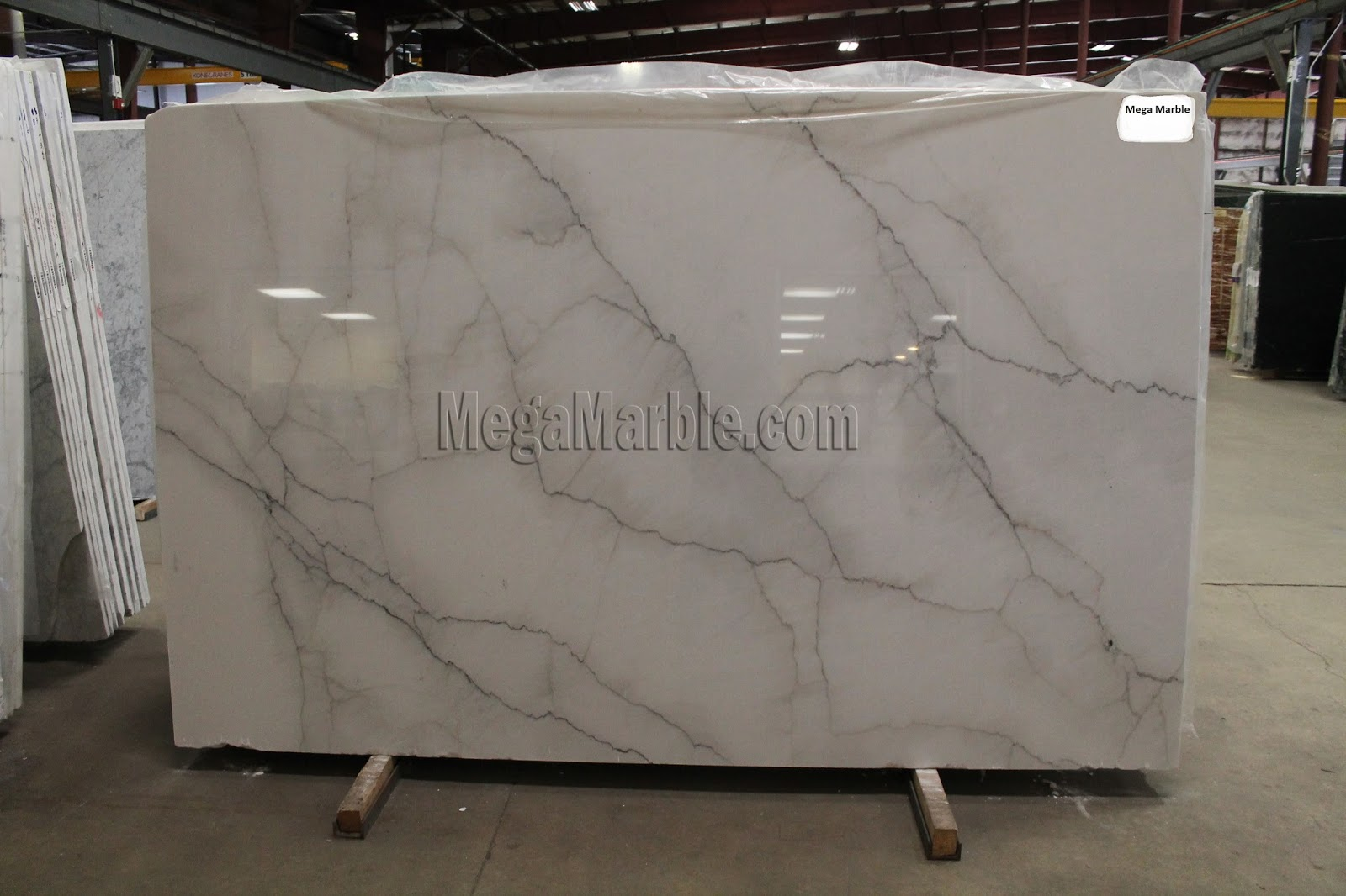 Calacatta Lincoln White Marble Slab