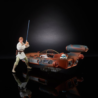 "San Diego Comic-Con 2017 Exclusive Star Wars The Black Series X-34 Landspeeder Vehicle with Luke Skywalker 6"" Action Figure by Hasbro"