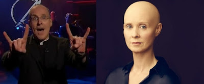 James Martin and a bald Cynthia Nixon