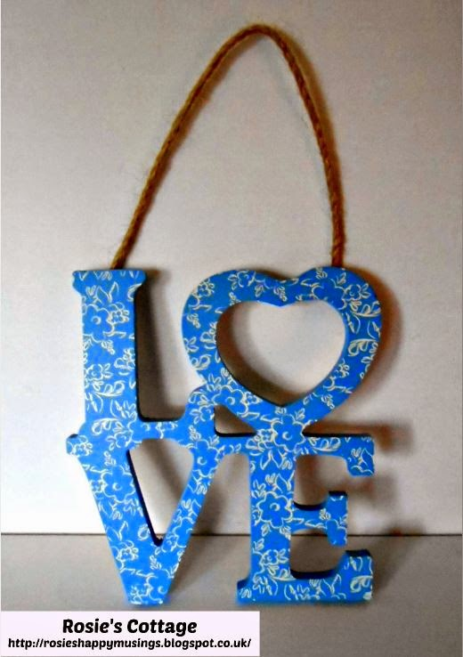 Wooden Love Carving Decoration